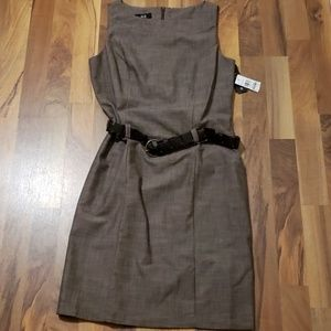 NWT AGB brown dress size 10